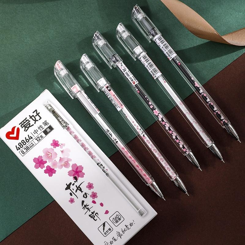 3 Pcs/lot 0.5mm The Sakura Season Cute All Needle Gel Ink Pens Neutral Pen School Office Writing Supplies Stationery Gift