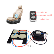 12v auto seat built-in air lumbar support and waist massage for car seat