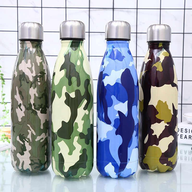 الرخام المياه + زجاجات الترمس قارورة مياه الفولاذ غير القابل للصدأ زجاجة BPA شحن دراجة زجاجة للشرب أثناء الرياضة المحمولة الباردة كأس Gym شاكر
