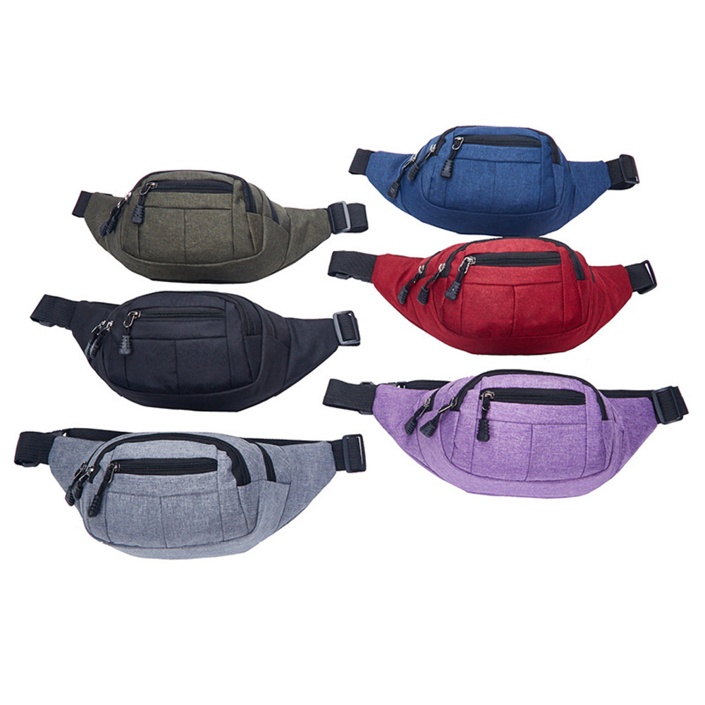 2020 New Washed Canvas Waist Bag Men's Mobile Phone Storage Waist Bag Stall Cash Register Wallet Zipper Sports Harajuku Purse