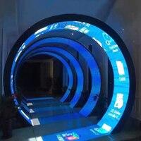 P2.5 Flexible Módulo De Pantalla LED 320X160mm tamaño interior de alta definición completa-Color pantalla curva unidad de HUB75 interfaz