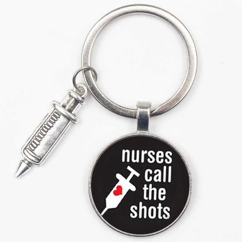 Moda Anjo Bonito Sino Chamada Padrão Crachá Chaveiro Mini Modelo Médico Melhor Dia Da Enfermeira Chaveiro Presente De Pós-graduação Da Escola Médica