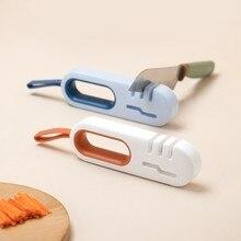 Afiador de faca 3 estágios 4 em 1 multifuncional pedra de amolar cozinha afiar acessórios w8ea