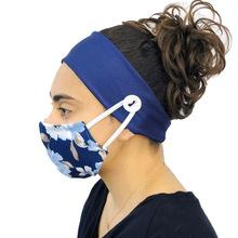 Neue Baumwolle Stirnband Sport Yoga Elastische Stirnband mit Taste für Tragen Maske Frauen Männer Ohr Schutz Headwear Einfarbig cheap COTTON Unisex Erwachsene Stirnbänder Mode Fest czx222A Headdress
