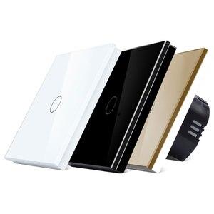 Image 3 - Bingoelec 1/2/3Gang 2Way Stair Wall Switch,White Crystal Toughened Glass Touch 2Way Light Switch EU/UK standard AC110 250V