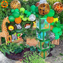 1set Jungle Safari Birthday Party Balloons Green Jungle Forest Animal Party Decoration Baby Shower Kids Birthday Party Supplies