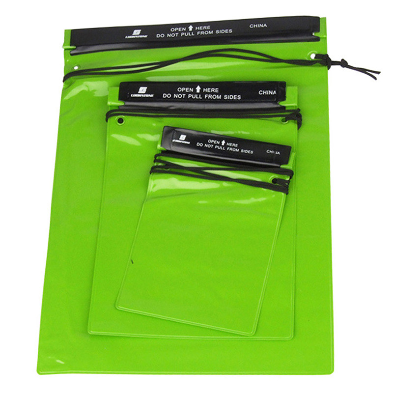 3Pcs/Set Outdoor Swimming Waterproof Bag Camping Rafting Storage Dry Bag With Adjustable Strap Hook