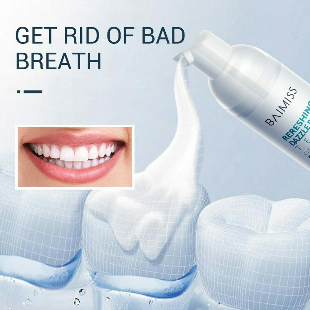 Tooth Cleaning Mousse Toothpaste Oral Hygiene Removes Teeth Toothpaste Care Tool Mousse Plaque Fresh Oral Foam Stains Brigh U1E5