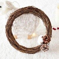 Hochzeit Dekoration Kranz Natürliche Rattan Kranz Garland DIY Handwerk Dekor Für Home Tür Grand Baum Weihnachten Geschenk Party Ornament|Kränze & Girlanden|   -