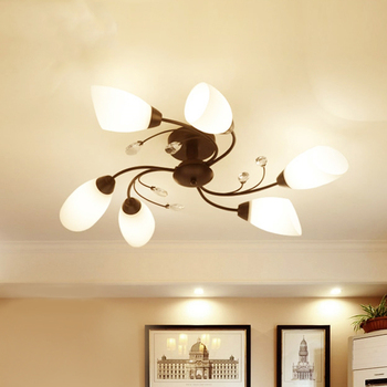 Modern Black Chandelier Rotate Flower Lighting Led Fixture Coffee Cafe Lamp Stainless Steel Calla Lily Luminaire White Luster