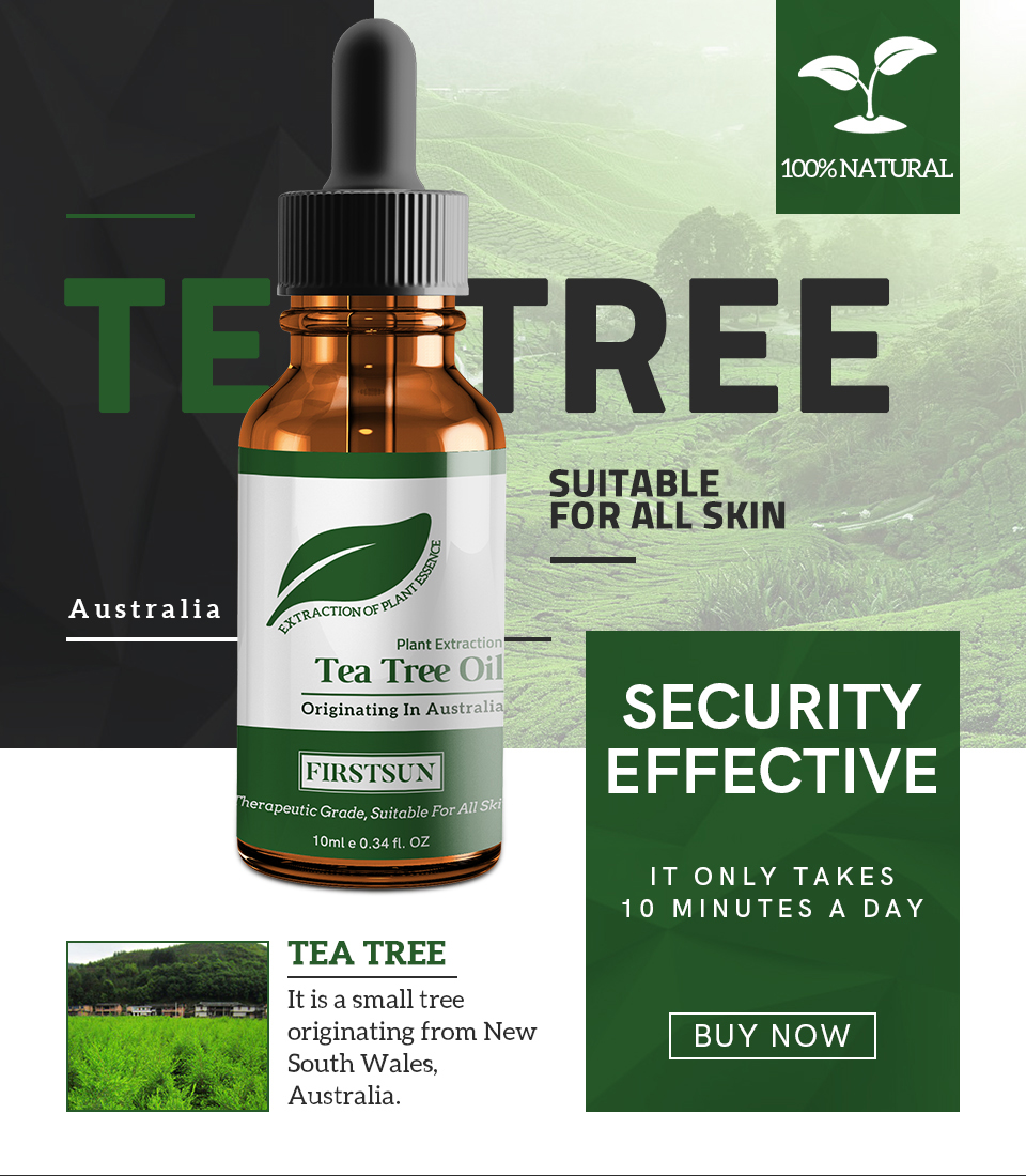 Natural Tea Tree Essential Oil Anti-wrinkle Acne Pores Removal Scars Treatment Anti Scar Spots Skin Care TSLM1 image