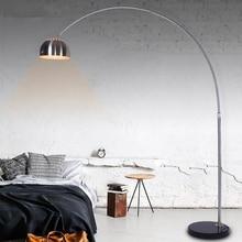 Оригинальная Напольная Лампа из нержавеющей стали, рыболовные стоячие светильники для гостиной, спальни, кабинета, домашнего декора, напольное освещение