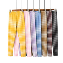 Velvet Warm Lounge Wear Bottoms Pajama Pants Women Causal Pants Striped Sleepwea