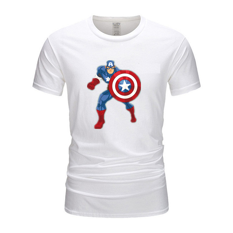 Футболка с капитаном Америкой, Марвел, Железный человек, футболка с коротким рукавом, Классическая футболка с человеком-пауком, 100% хлопок