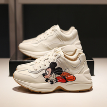 Sneakers Platform-Shoes Wome Prints White Casual Cartoon Celebrity Fashion INS
