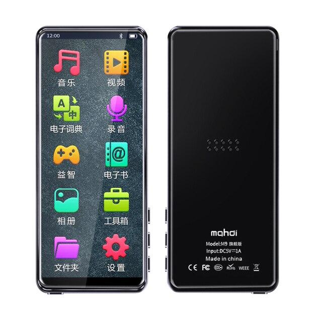 Bluetooth 5.0 MP3 Thời Trang Màn Hình Cảm Ứng 3.5 Inch, Nghe Nhạc Thể Thao MP3 Hỗ Trợ Đa Ngôn Ngữ Đài Phát Thanh FM 128G TF Tai Nghe Chụp Tai