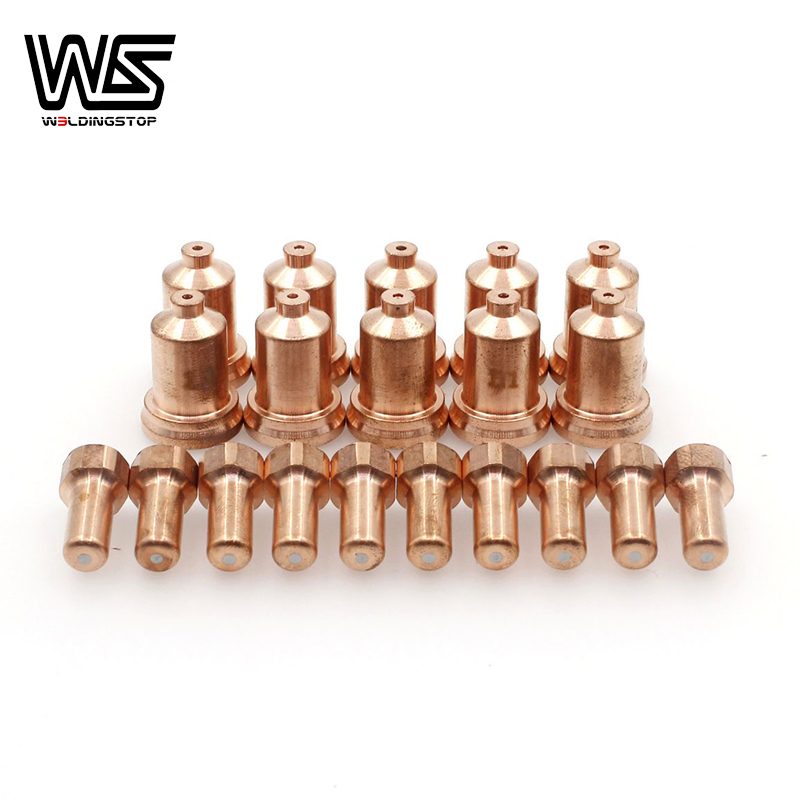Electrode Contact Tip Nozzle 1 1mm for PTM80 PTM-80 IPT-80 PT80 Plasma Cutter Torch Consumables PKG 20