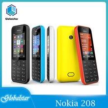 Nokia 208 reformado teléfonos móviles 208 Original teléfono Dual Sim 2G/3G GSM 1.3MP 105 0mAh desbloqueado barato celular entrega rápida