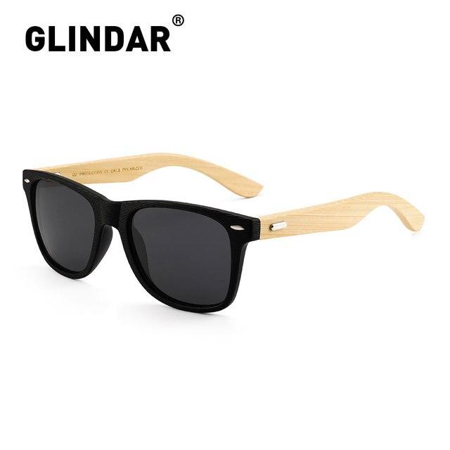 Çizgili çerçeve Retro ahşap polarize güneş gözlüğü marka tasarım erkekler kadınlar Retro güneş gözlüğü sürüş lentes de sol