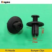 Нейлоновый передний бампер крыло тела литьевые зажимы пистон для Mazda 3 для mazda 6 Atenza в отверстие размер 8 мм