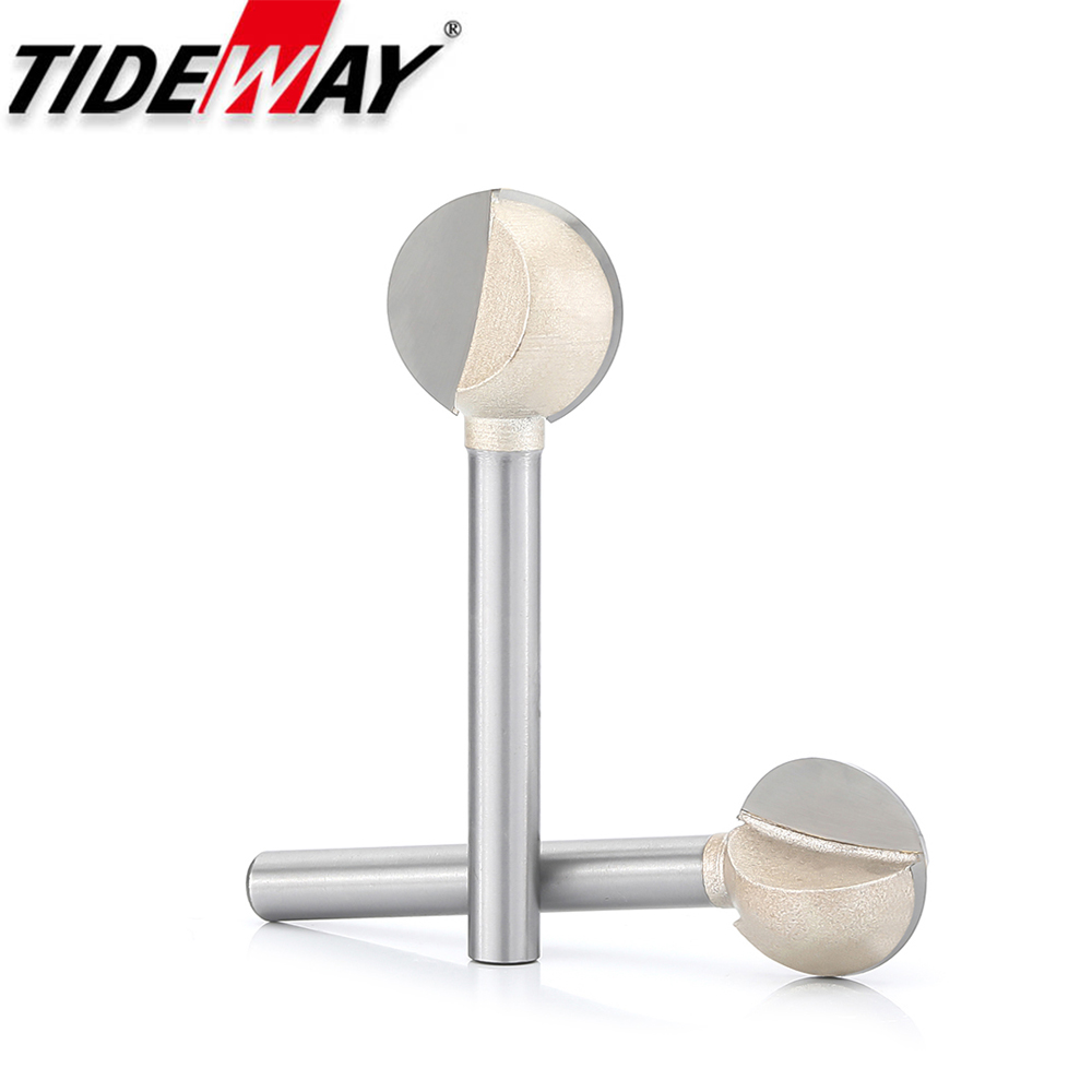 Tideway Woodworking Ball Router Bit Wood Carving Milling Cutter Tray Coffee Table Base Ball Cutter Sharp Smoothly Carving Mill