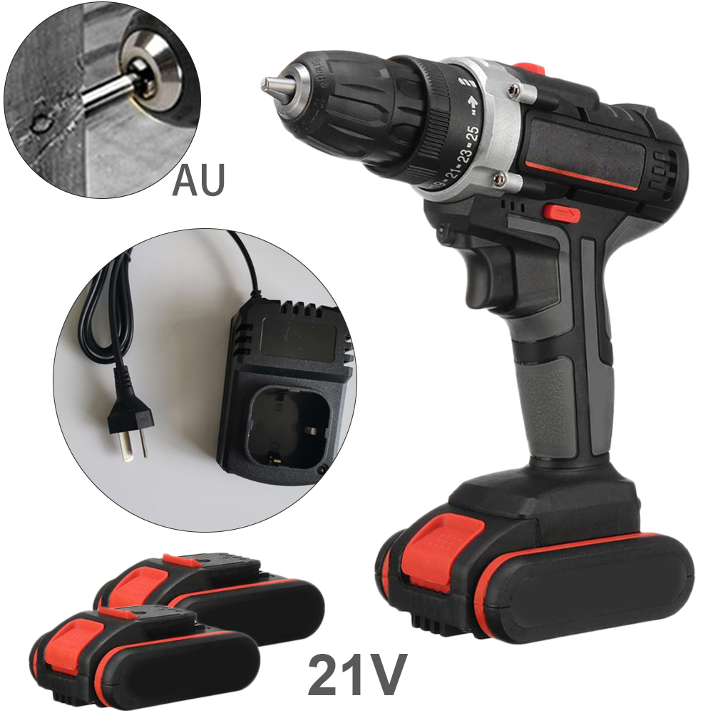 Dual Speed Electric Drill Rechargeable Battery Brush Motor Multi Modes Impact Flat Turning Power Drilling Tools|Electric Wrenches| |  - title=