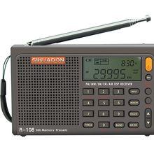 Radiwow SIHUADON R-108 FM Stereo Digital Portable Radio AM SW Air Radio Sound Alarm Function Display Clock Temperature Speaker