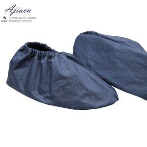 Image 2 - Os recém chegados anti radiação eletromagnética sapato cobre emf blindagem unissex tampas de sapato de proteção de radiação