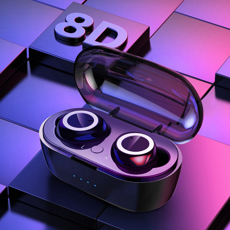 Bluetooth 5.0 Wireless Earphones Portable TWS Headphones LED Display Bluetooth Earphone Gaming Headset Handsfree Sports Earbuds