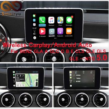 Wireless Multimedia Smart car Retrofit with Apple Carplay Box for Mercedes Benz NTG5.0 GLA A GLC C B E CLS GLE GLS iOS AirPlay image