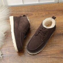 UVWP Botas de nieve de piel Natural y cálida para hombre, zapatos antideslizantes de invierno, de diseñador, de lujo, 2020