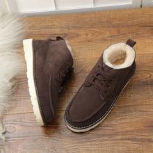 UVWP New Fashion Warm Natural Fur Snow Boots Men Genuine Leather Winter Boots Non slip Mens Shoes Designer Shoes Men Luxury 2020