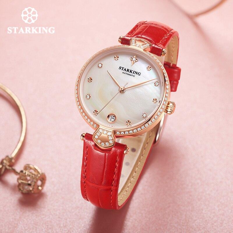 "Deal""STARKING Women Watches Mechanical-Montre Automatic Femme Luxury Waterproof Diamond Gift"