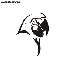Langru Wild Animal Sticker Birds Parrot Decal Car Posters Decor Painted Wild Animal Vinyl Decor Accessories Jdm(China)