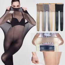 Sıcak süper elastik büyülü temel tayt külotlu streç Panti hortum kadın dikişsiz ipek çorap elastik ince külotlu