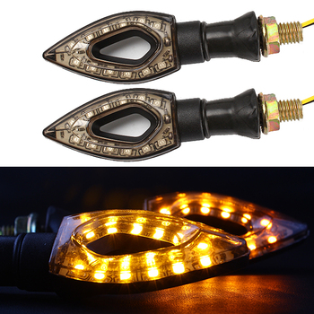 1 Pair 12 LED Motorcycle Turn Signal Amber Lights Waterproof Universal Indicators Lamp Amber Lights Motorcycle Accessories