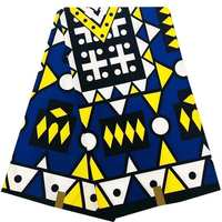 Latest nigerian wax fabric African fabric real wax prints fabric hot selling Ankara 100% cotton fabric 40*40 yarn 6 yards|Fabric| |  -