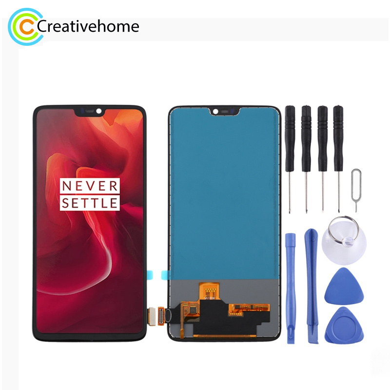TFT Material LCD <font><b>Screen</b></font> and Digitizer Full Assembly for <font><b>OnePlus</b></font> 6T A6010 A6013 / <font><b>OnePlus</b></font> 6 <font><b>A6000</b></font> image