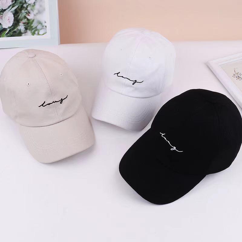 Adjustable Baseball Cap For Women And Men Fashion Hip Hop Letter Embroidery Sun Helmet