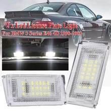 2 pces led luz da placa de licença led canbus luz da cauda do automóvel branco lâmpadas led para bmw 3er e46 4d 1998-2003 acessórios do carro