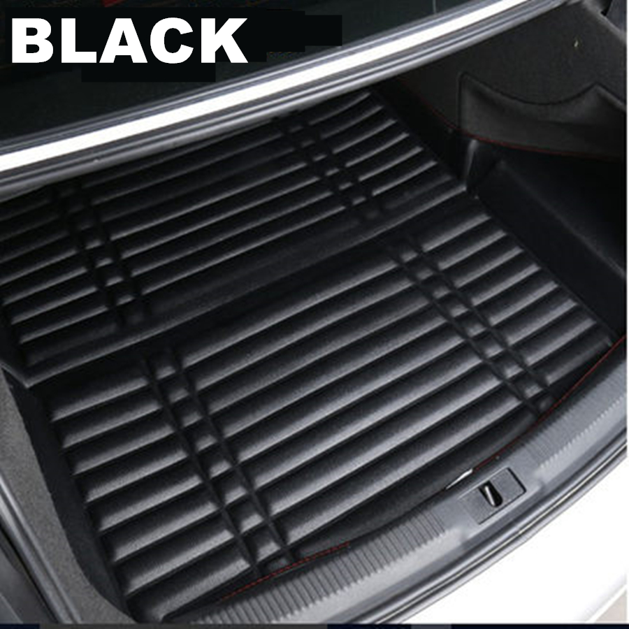 1pcs Black Color Car Boot Pad Carpet Trunk Cargo Liner Floor Mat Molded Cargo Tray Custom Fit For Hyundai Tucson 2015-2016-2017-2018 2019