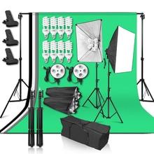 استوديو الصور الإضاءة كيت 2x2m خلفية دعم 4 قطعة خلفية ضوء التصوير الفوتوغرافي Softbox الناشر غطاء 4in1 المقبس للفيديو