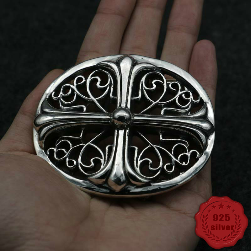 S925 Sterling Silver Belt Buckle Personality Fashion Hip Hop Punk Style Cross Letter Style To Send Lover Gift 2019 New Hot