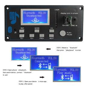 Image 2 - Reproductor MP3 Bluetooth 5,0 para coche, Módulo de placa decodificadora FLAC APE con pantalla LCD KIT de memoria USB FM Aux Radio Lyrics Spectrum Folder Display PW