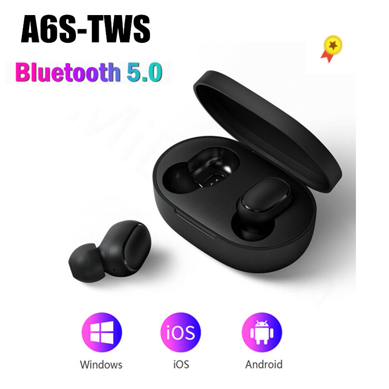 Bluetooth Earphone TWS Wireless Earbuds 5.0 Noise Cancelling Headsets Sport Waterproof Earbuds Fingerprint Touch With Microphone
