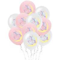 10 unids/lote de globos de látex de unicornio para niña, confeti para Baby Shower, globos de helio, caballo, cumpleaños, bautizo, adornos fiestas