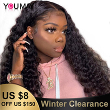 360 Lace Frontal Wigs Pineapple Deep Curly Fake Scalp 250% Density 13X6 Lace Fro