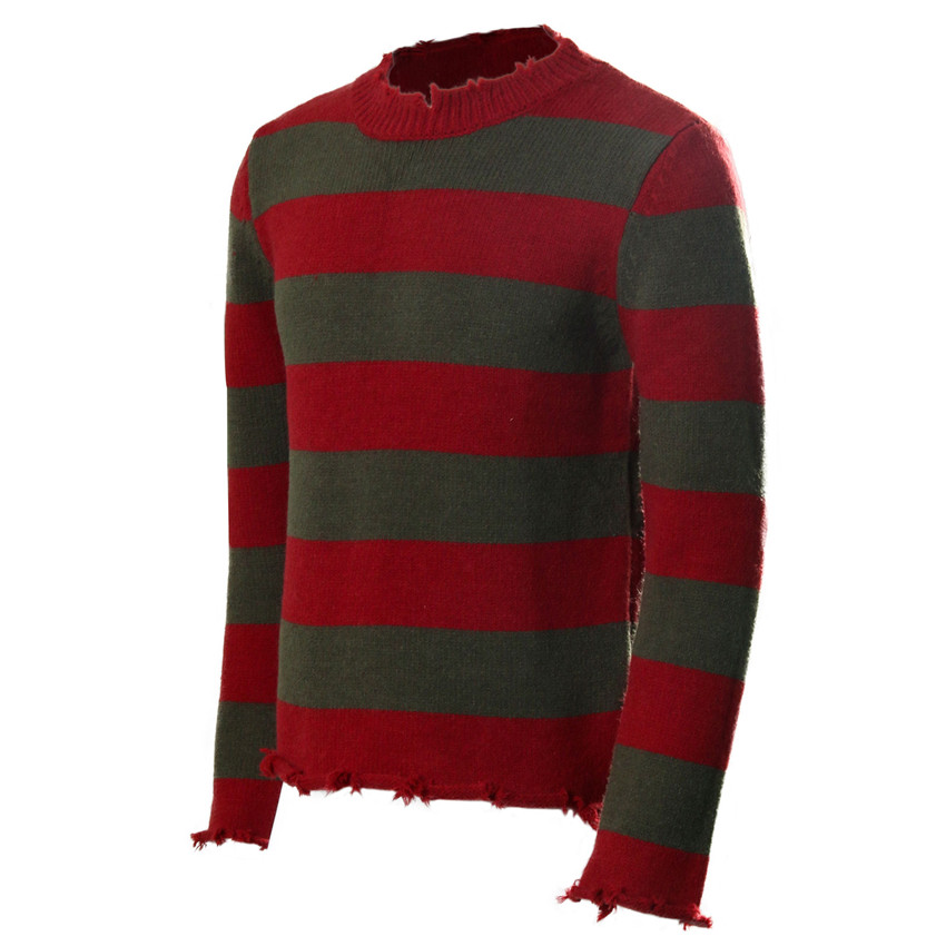 Takerlama Freddy Costume Sweater Men Halloween Christmas Casual Knitting Tops Clothing