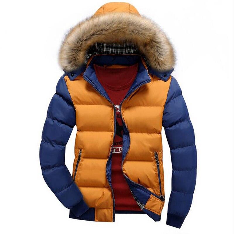 Cotton autumn and winter new warm men 39 s couple cotton coat 8 color coat men 39 s fashion stitching contrast color warm cotton coat in Parkas from Men 39 s Clothing