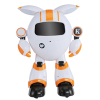 Wireless Moving Dancing Colorful LED Interactive 2.4G Remote Control Recording Girls Singing Early Education Robot Toy Gifts
